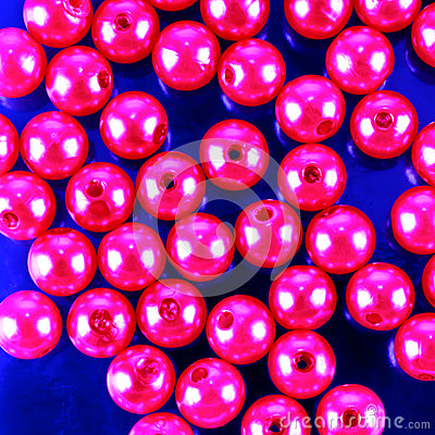 Shiny pink beads