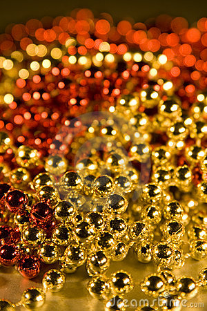 Shiny Beads for background christmas design eleme