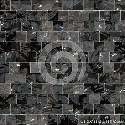 Shiny Black And Grey Tiles Royalty Free Stock Photo