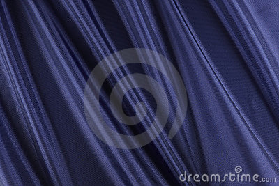 Shiny blue fabric