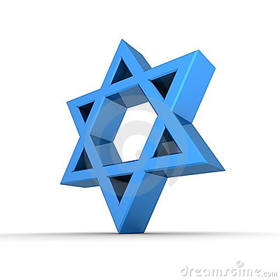 Shiny Blue Star of David