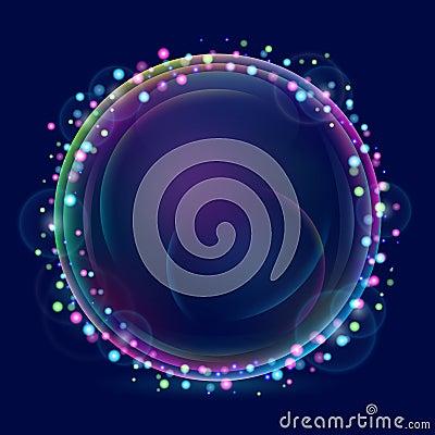 Shiny bubble card