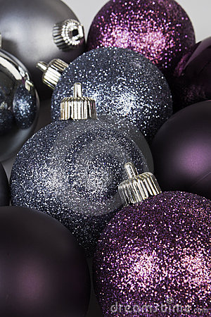 Shiny christmas balls.