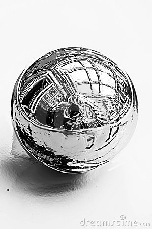 Shiny chrome ball