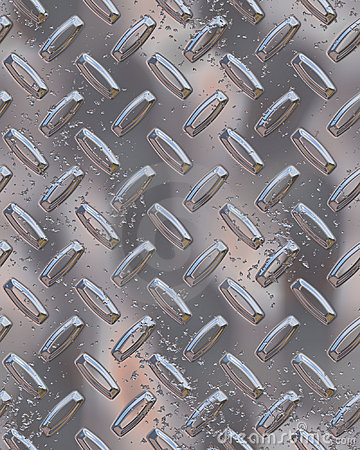 Shiny chrome diamondplate