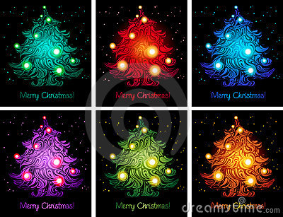 Shiny colorful christmas backgrounds