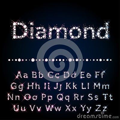 Free Shiny Diamond Font Set A To Z Uppercase And Lowercase Royalty Free Stock Images - 58464349