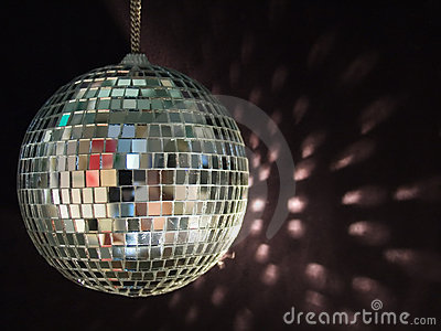 Shiny disco ball reflections