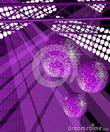 Shiny disco balls.