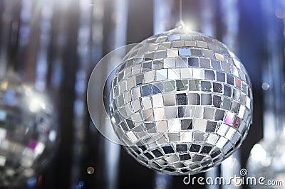 Shiny disco Glitter balls background