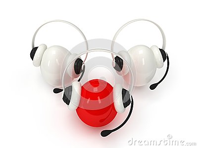 Shiny eggs with headsets  over white