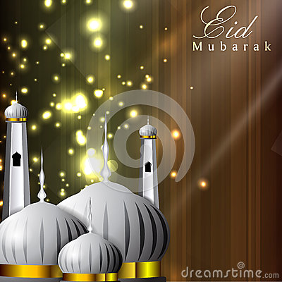 Shiny Eid Mubarak background