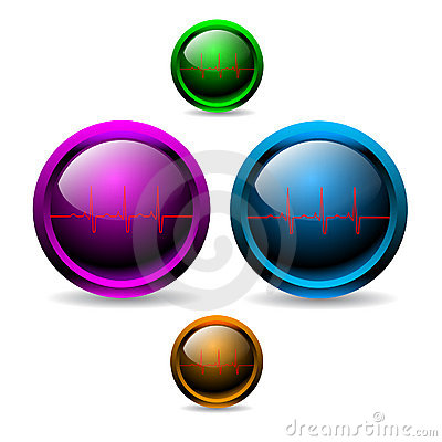 Shiny EKG buttons