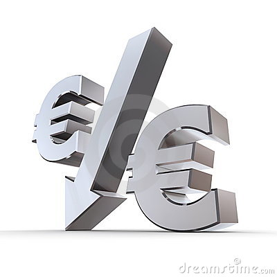 Shiny Euro Percentage Down