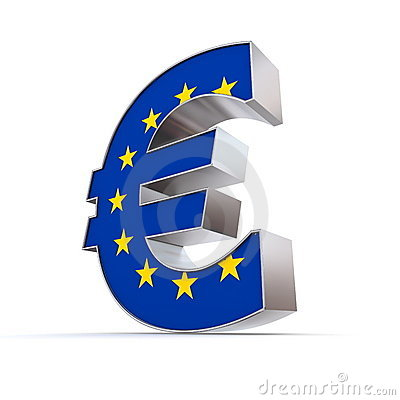 Shiny Euro Symbol - Flag of European Union