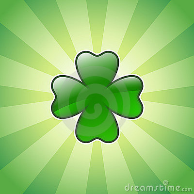 Shiny four leaves clover
