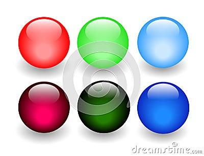 Shiny Glass Balls