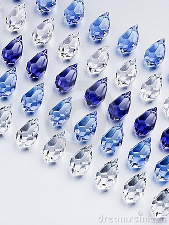 Shiny glass beads