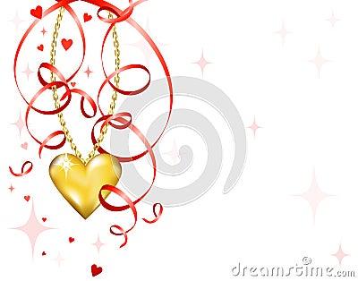 Shiny gold heart