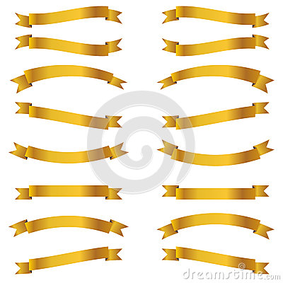Shiny golden ribbons