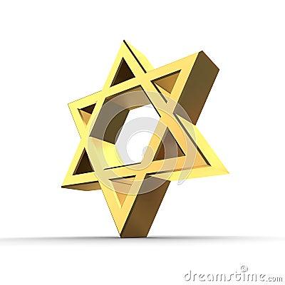 Shiny Golden Star of David