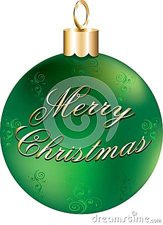 Shiny Green Gold Ornament