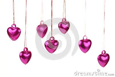 Shiny heart trinkets