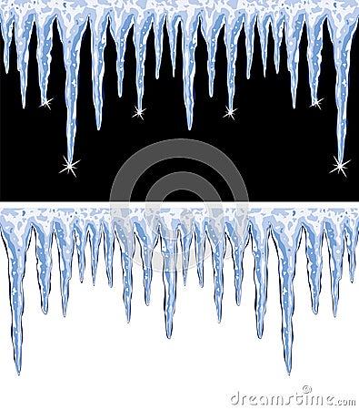 vector shiny icicles