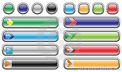Shiny internet buttons set