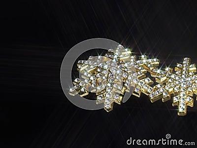 Shiny jewellery in dark back
