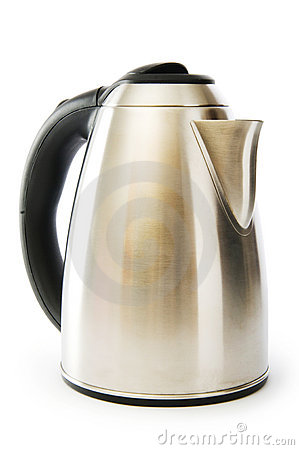 Shiny kettle isolated