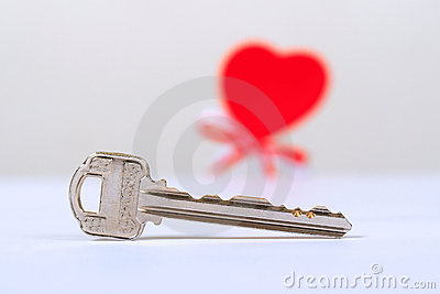 Shiny key and one heart