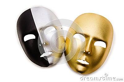Shiny masks isolated