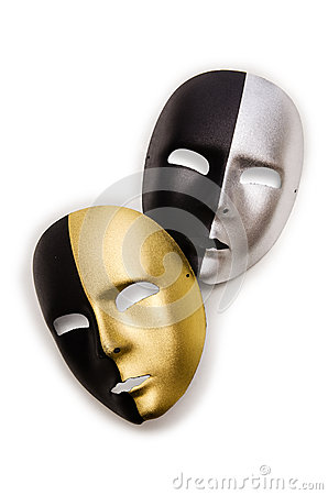 Shiny masks isolated