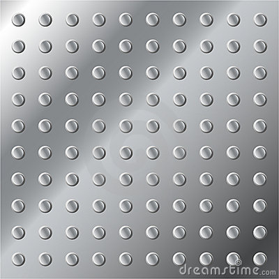 Shiny Metallic Background With Bolts