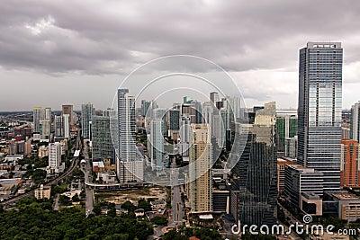 Shiny Miami under Stormclouds
