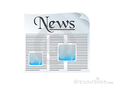 Shiny news paper icon