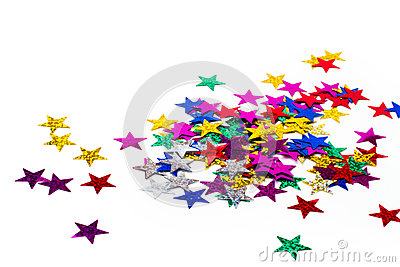 Shiny paper stars