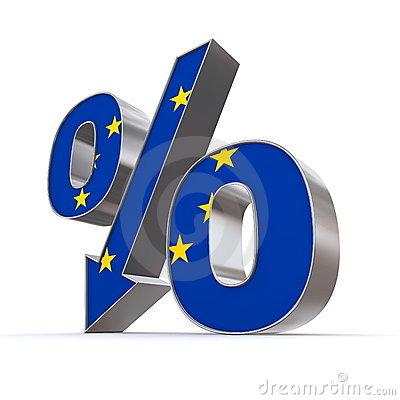 Shiny Percentage Down - Flag of European Union
