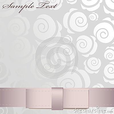 Shiny pink ribbon