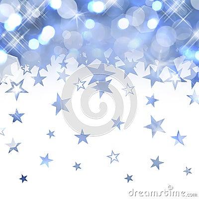 Free Shiny Rain Of Pastel Blue Stars Stock Photo - 45913940