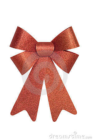 Shiny Red Bow