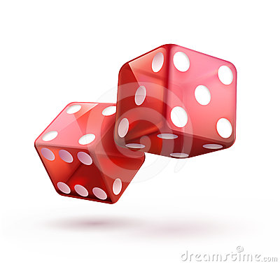 Shiny red dices