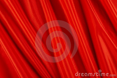 Shiny red fabric