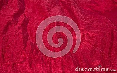 Shiny red fabric taffeta background