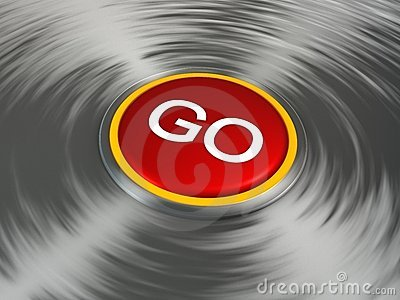 Shiny red Go button