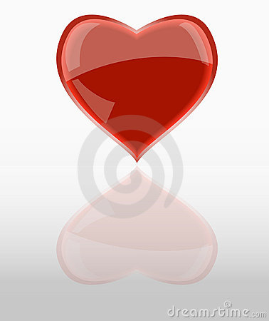 Shiny red heart,