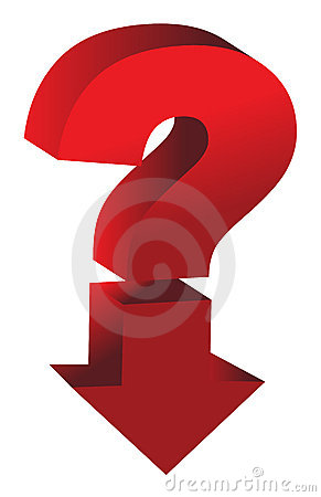Shiny red question mark