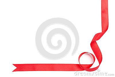 Shiny red ribbon for present wrapping