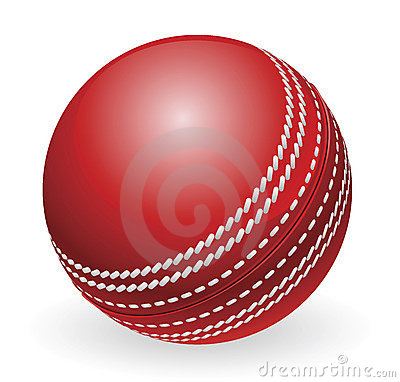 Free Shiny Red Traditional Cricket Ball Royalty Free Stock Photography - 20160817